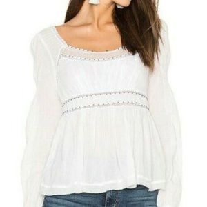 Free People Strangers In Love Beaded Top S